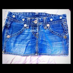 True Religion blue jean mini size 27
